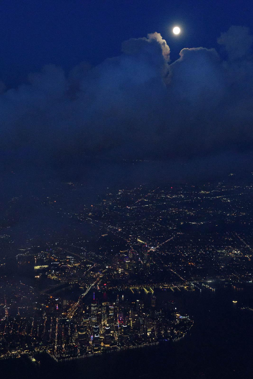 Moon Rises over Manhattan