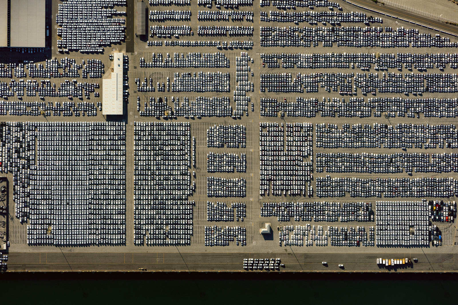 New car parking lot in Port of LA, Wilmington, CA (May 19, 2020)