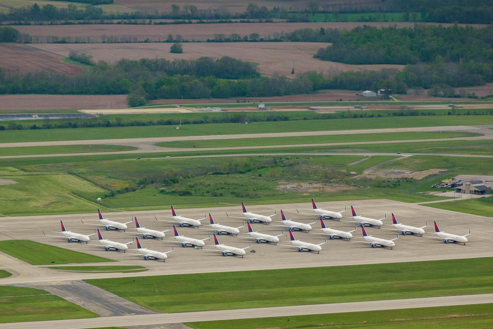 Delta airplane storage at Wilmington, IN