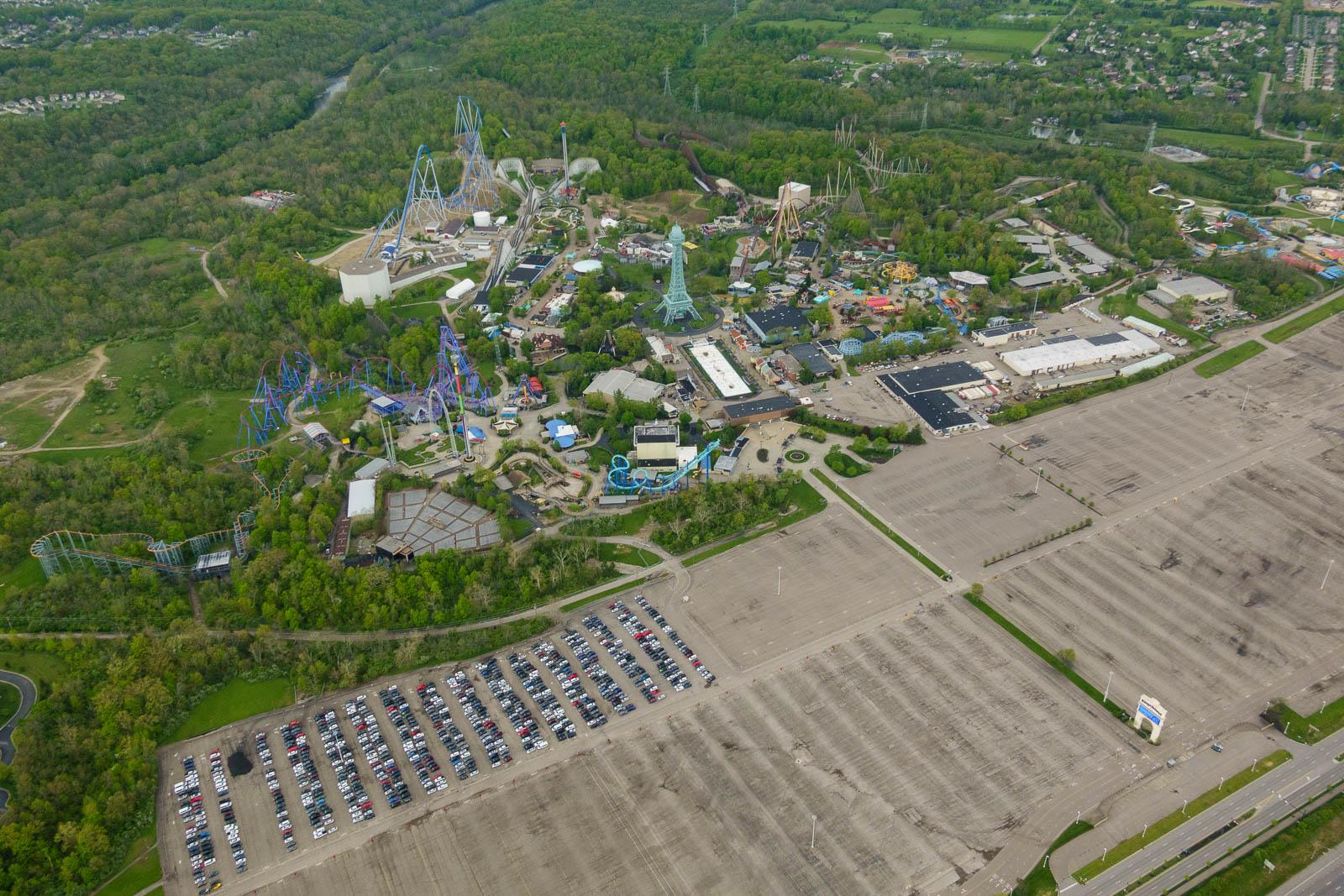 King's Island theme park in Mason - empty due to COVID-19