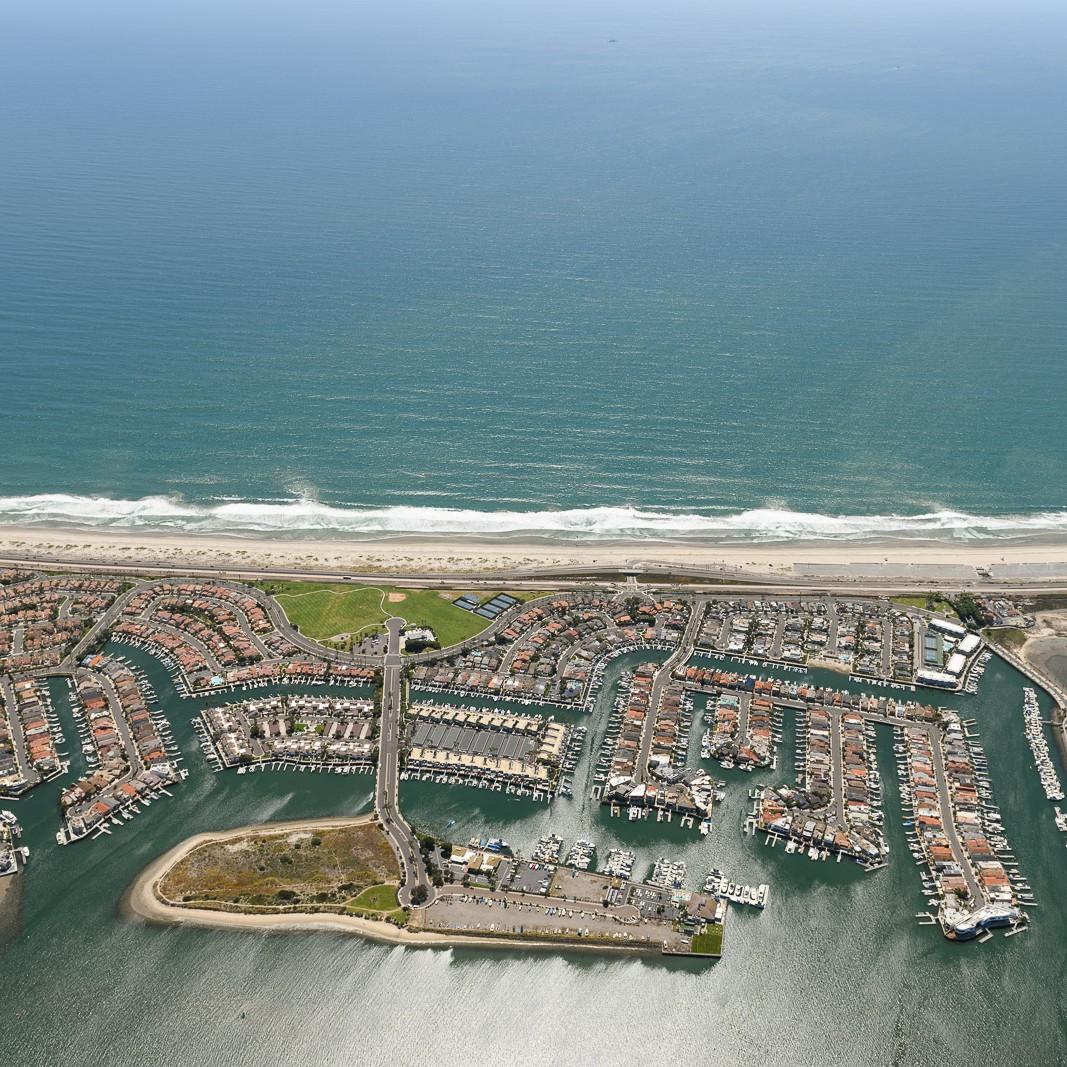 Cruise Ships Docked at San Diego Coastline