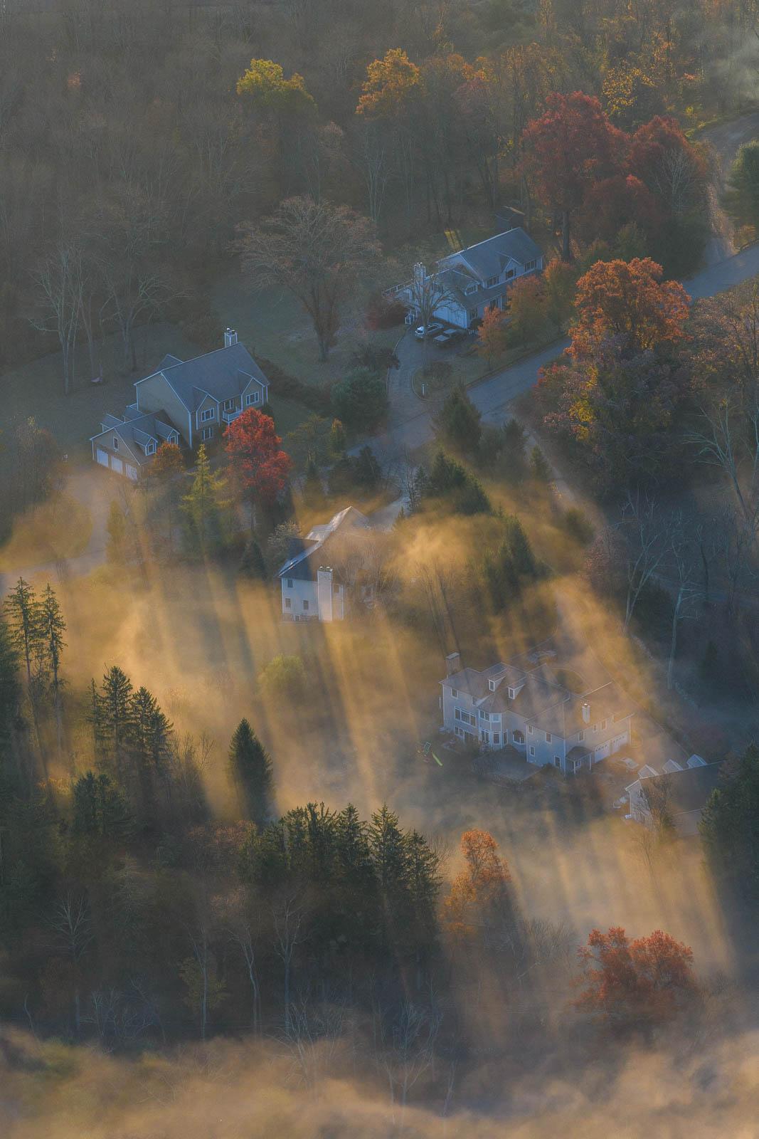 Sun Ray over Houses