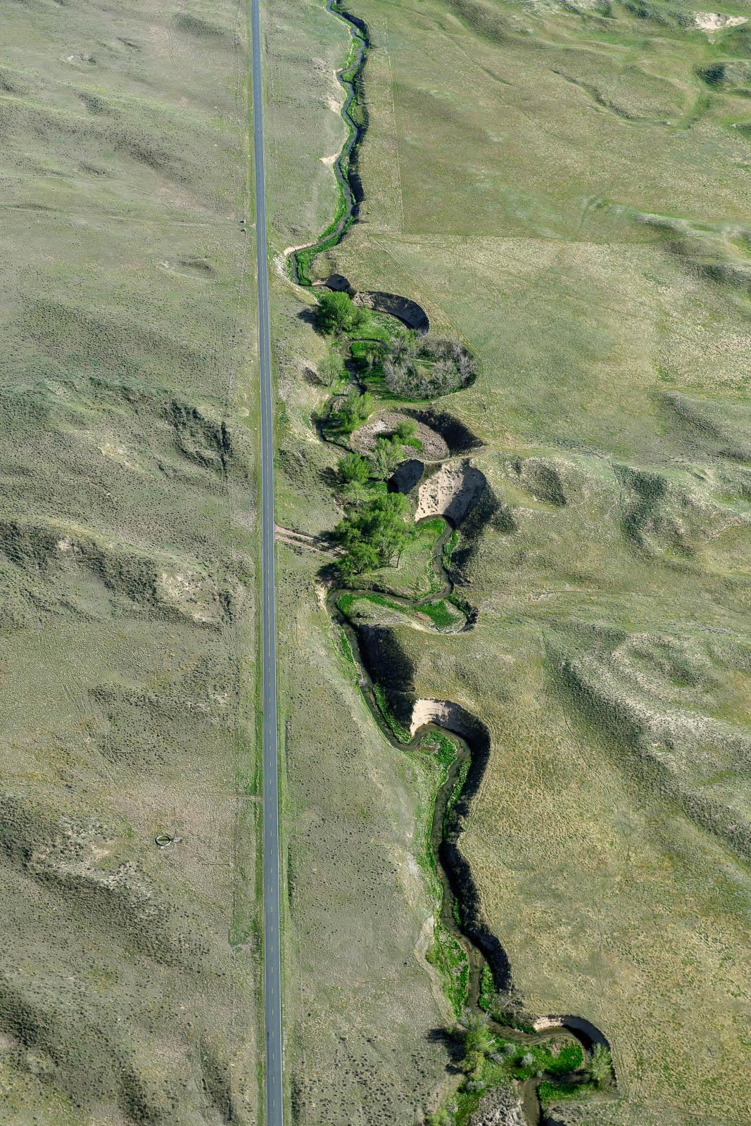 The straight roads of Morrill, Nebraska (yep, we ventured into the next state)