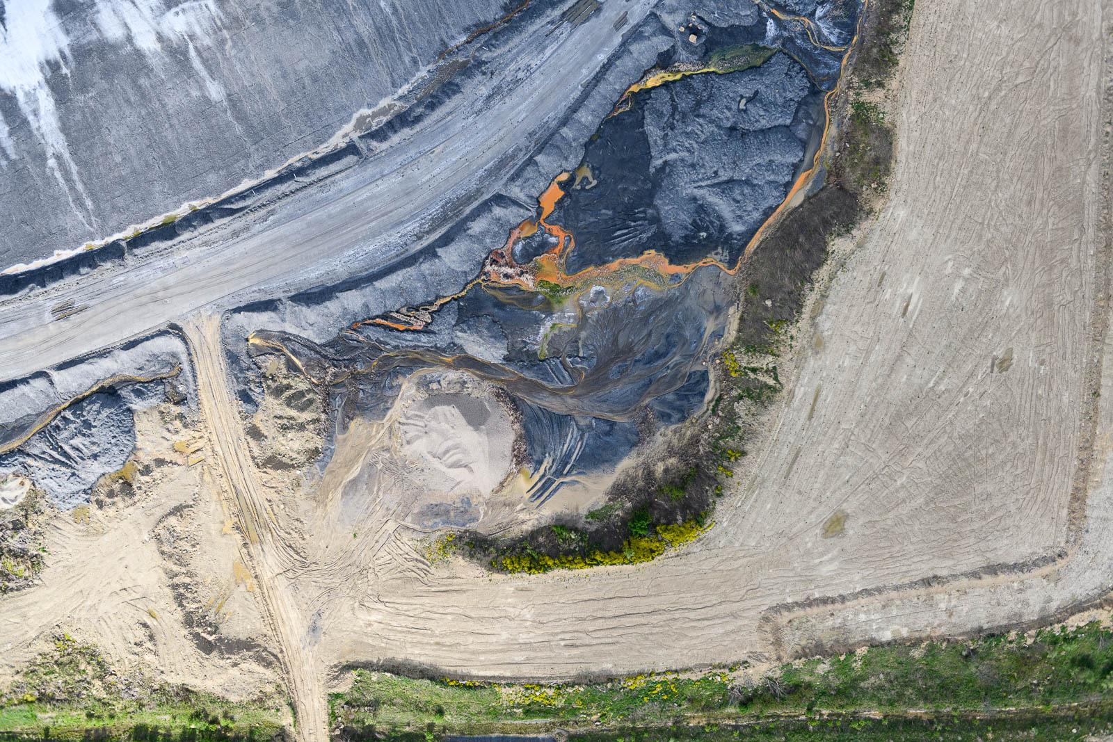 The excavation of coal