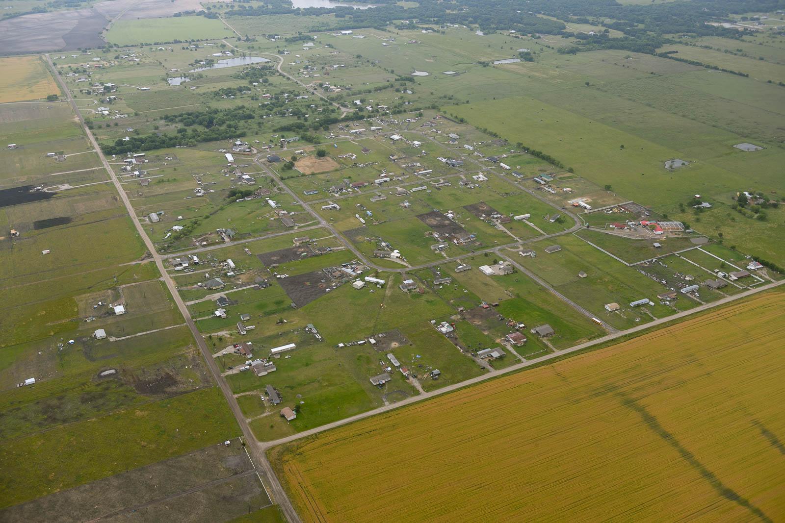 Not too pretty suburbs of Kaufman, Texas