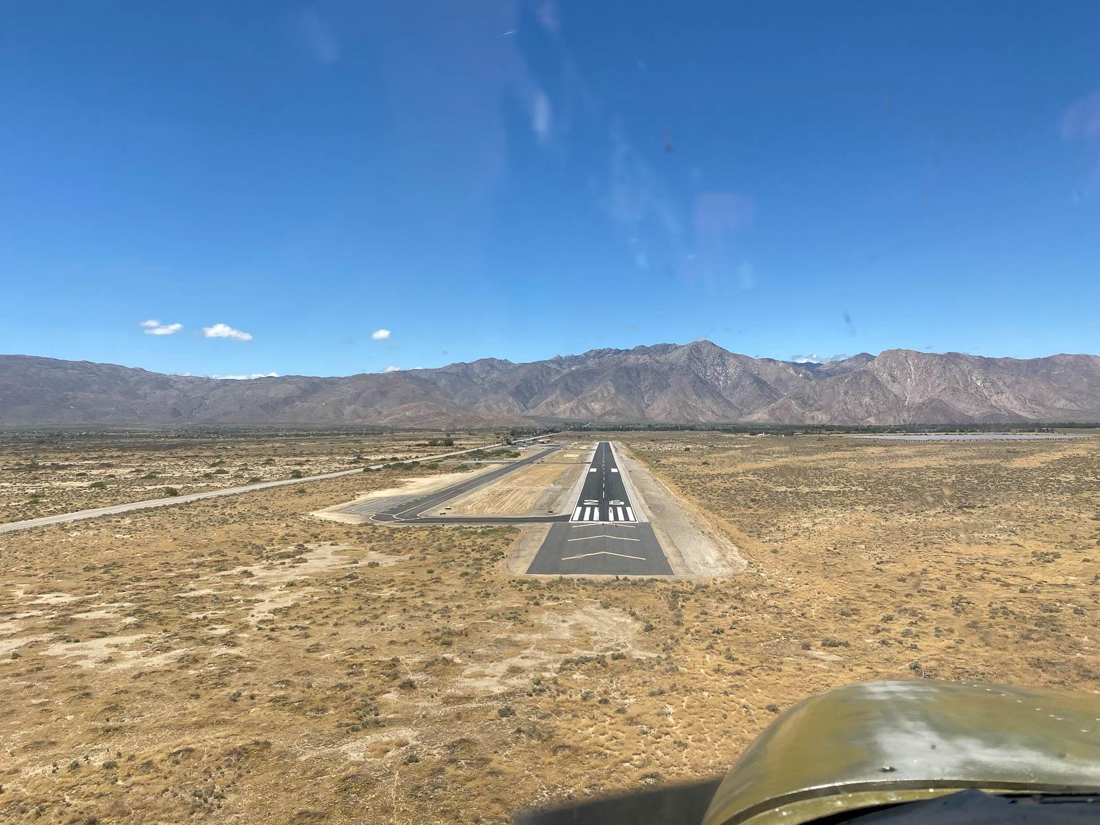 Landing at Borrego Springs, CA. Real gusty!