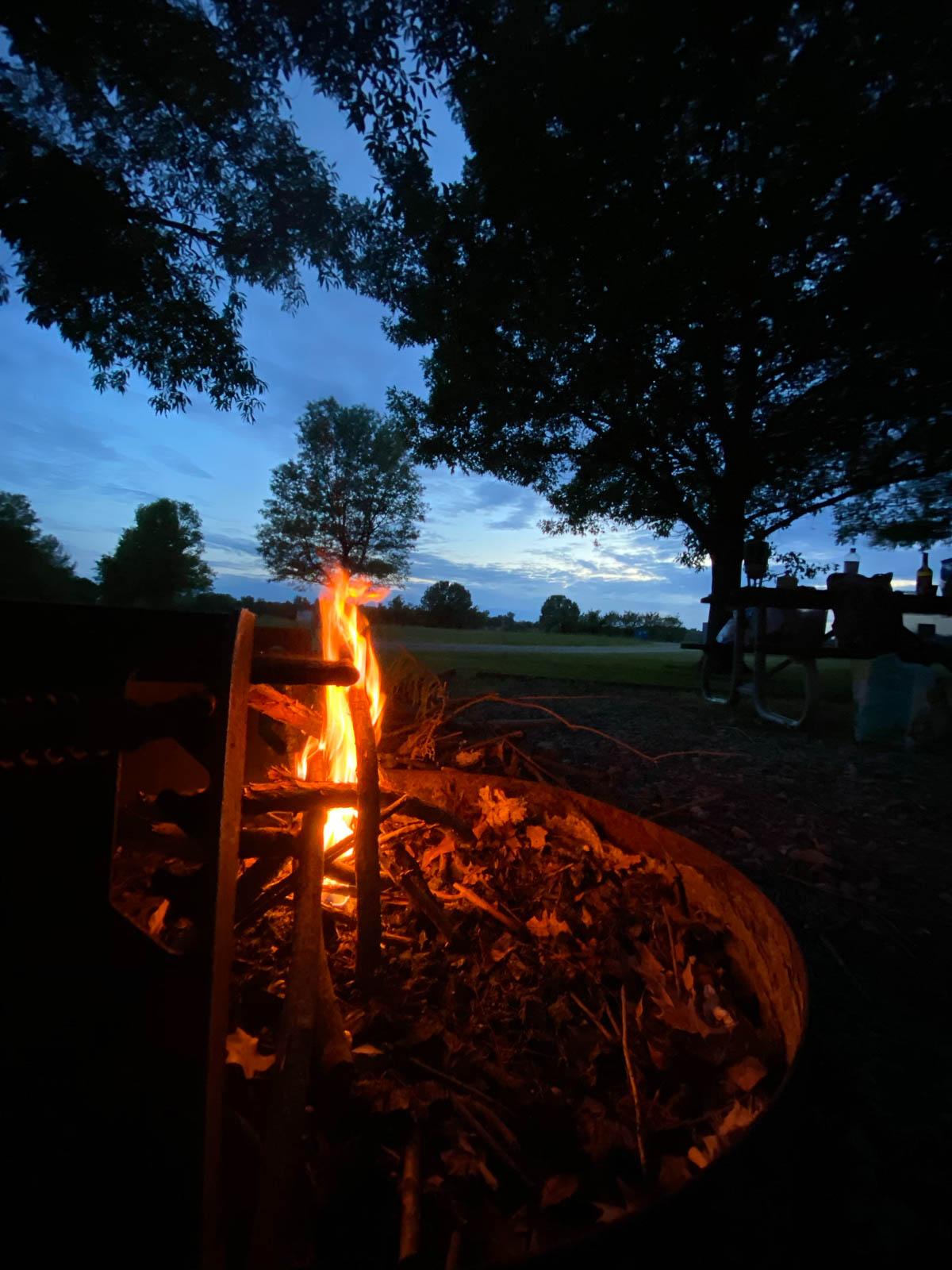 A real campground awaited us  at Reelfoot Lake, TN