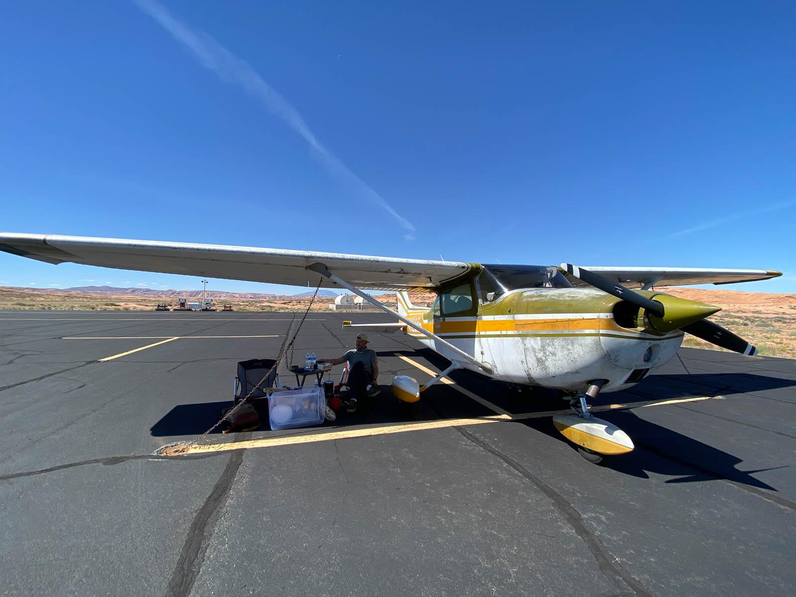 A little break at Kayenta Airport